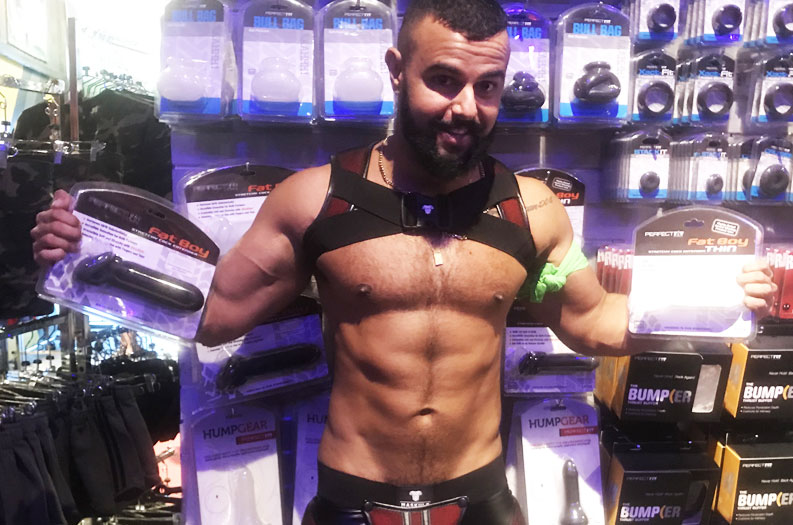 Brand Ambassador Wellington Rocks Mr. S Leather at Folsom