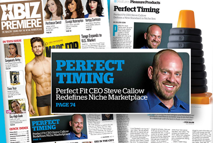 Perfect Fit Brand CEO  Steve Callow featured in XBIZ Premiere Magazine
