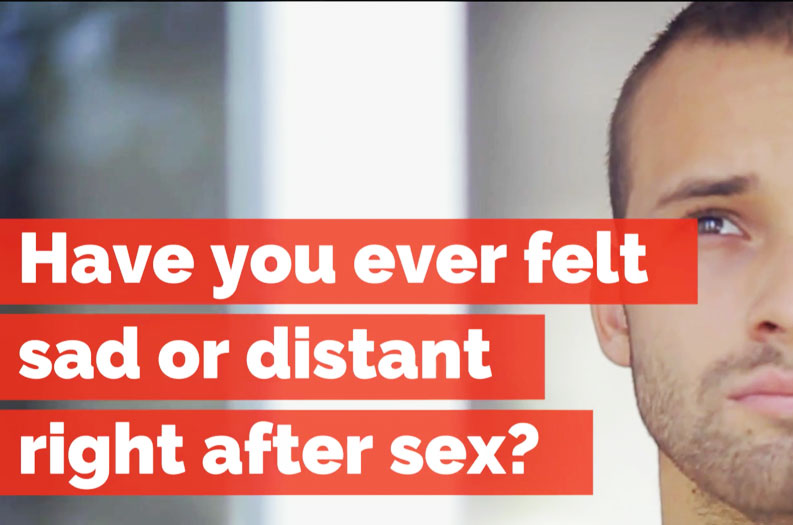 VIDEO: Why some guys feel sad after sex