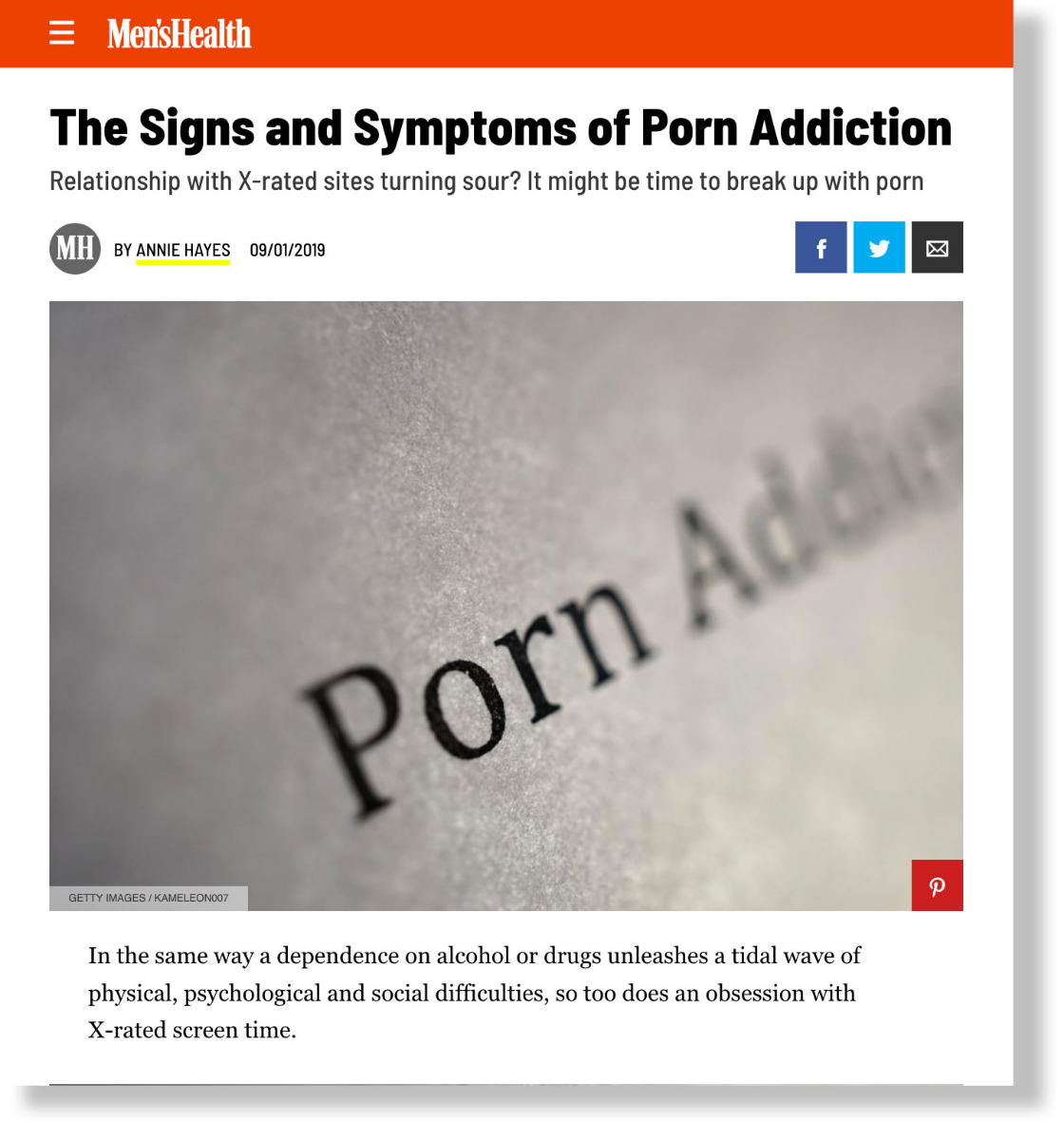 Men's Health Porn Addiction