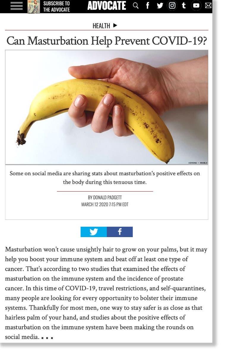 Advocate Masturbation post