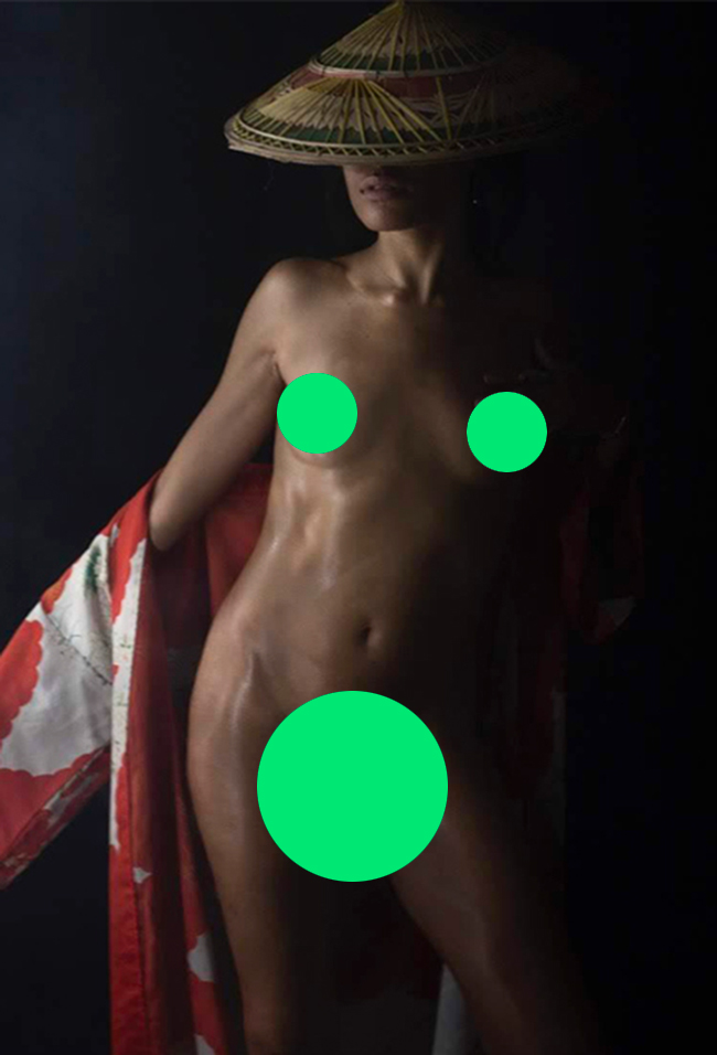 Censored photograph by Ari Fraser