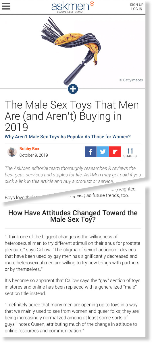 The Male Sex Toys That Men Are (and Aren't) Buying in 2019 - AskMen.com