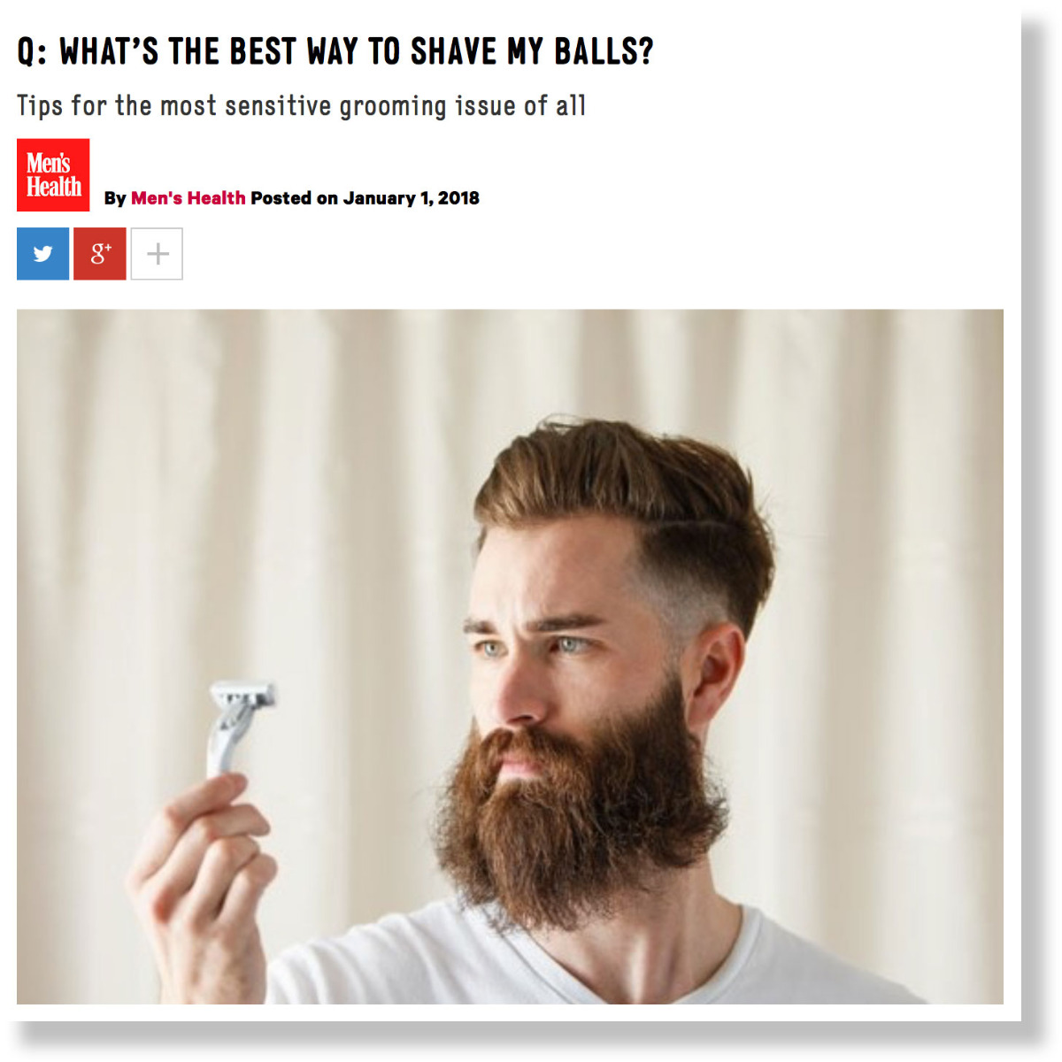 Q: What's The Best Way to Shave my Balls - Men's Health UK