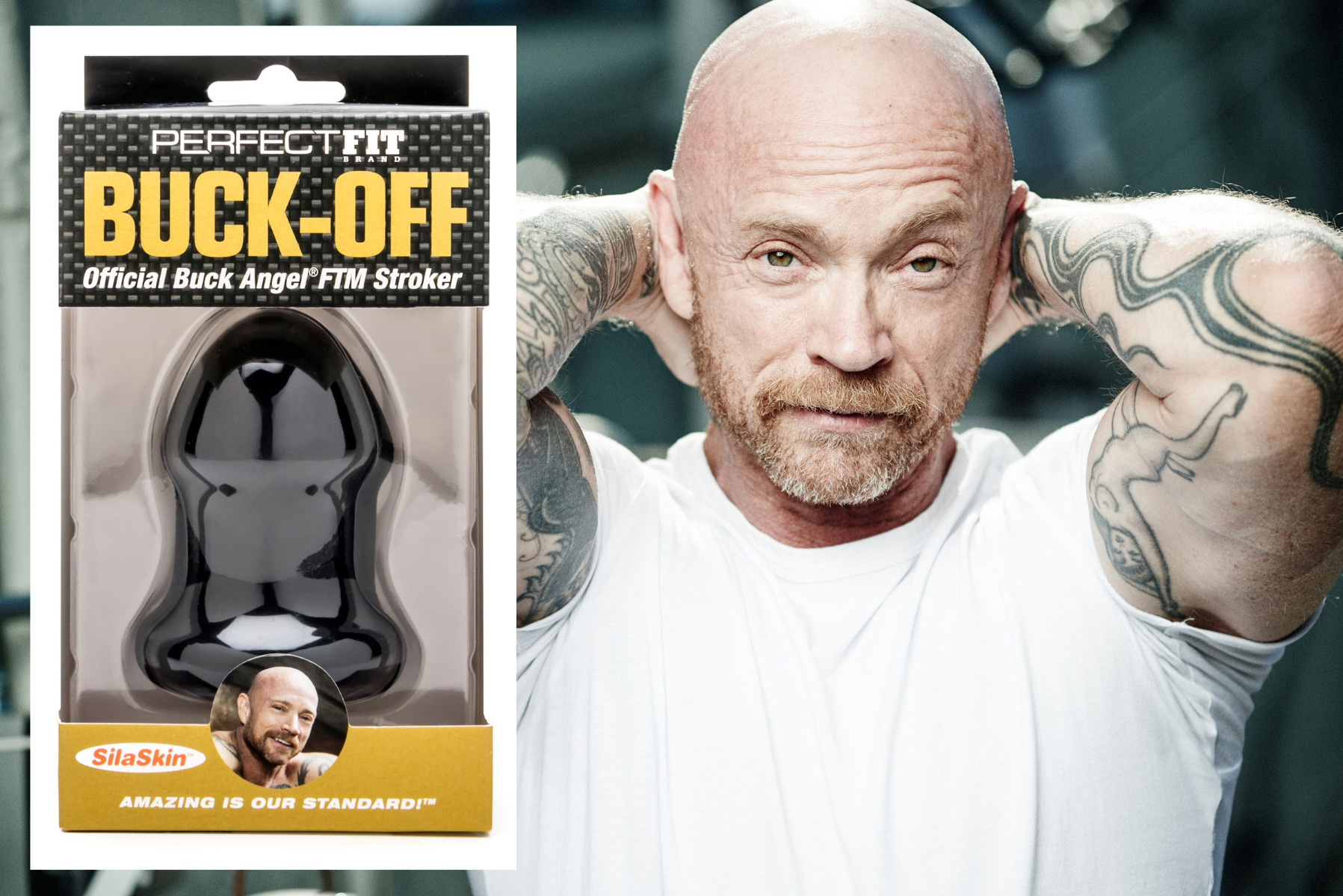 Buck Angel by Hans Rosemond and the Buck-Off package