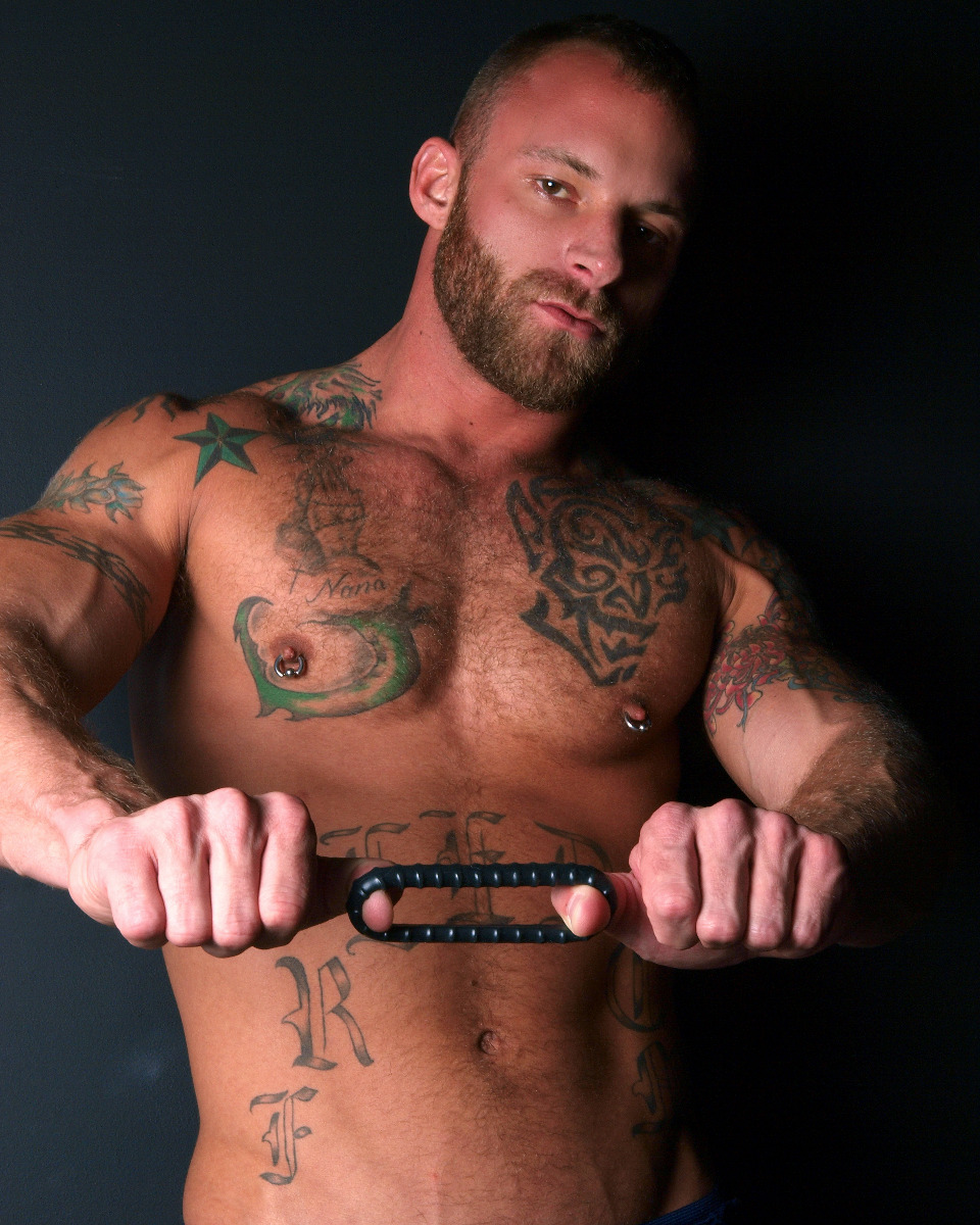 Derek Parker with the Ribbed Ring cock ring