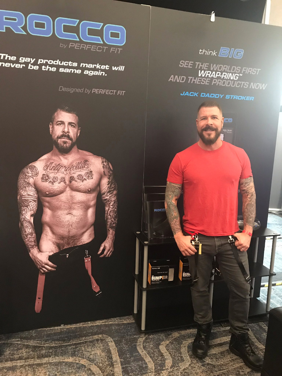 Rocco Steele at Perfect Fit Brand ANME booth