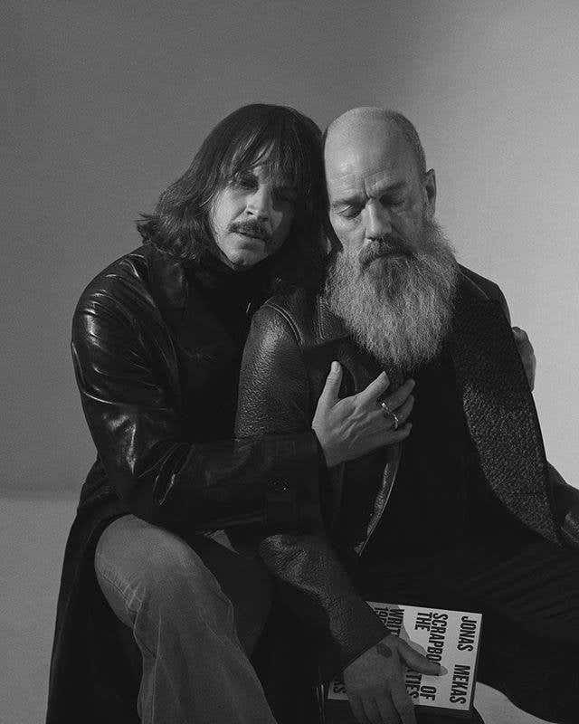 Casey Spooner and Michael Stipe by Hans Neumann