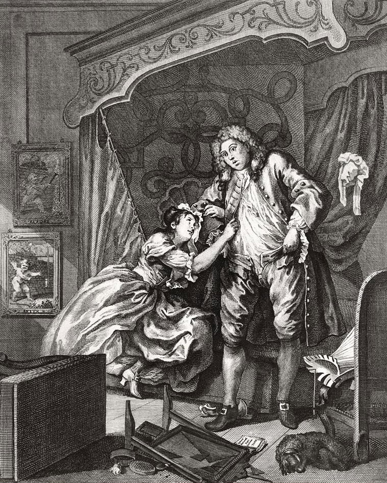 "William Hogarth ""After"" 1730-1"