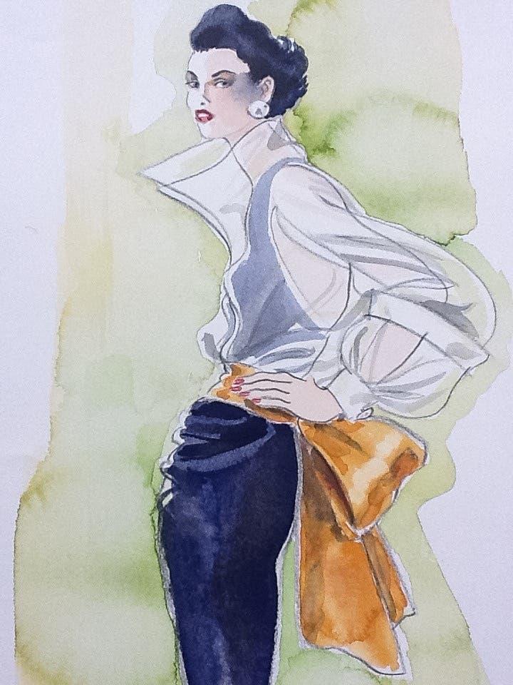 Fashion illustration by Richard Vyse