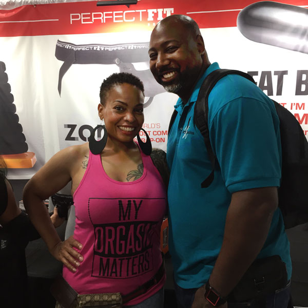 Hart's Desire owners at the Perfect Fit booth at Sex Expo 2018