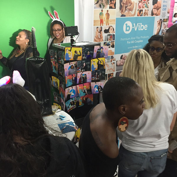 B-Vibes booth at The Sex Expo