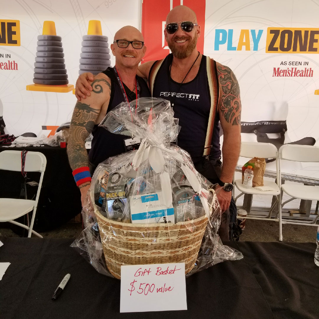 Buck Angel and Perfect Fit Brand CEO Steve Callow at the 2017 Folsom Street Far