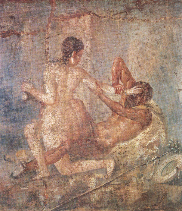 Satyr and Hermaphrodite in Pompeii