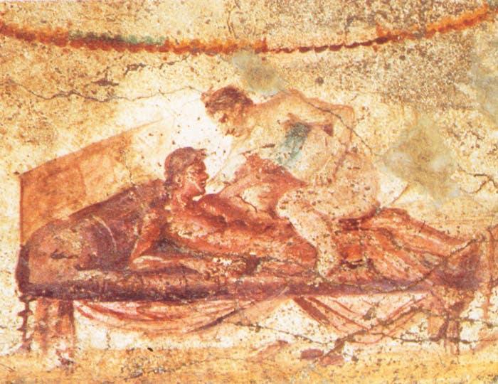 Mural in Brothel of Pompeii