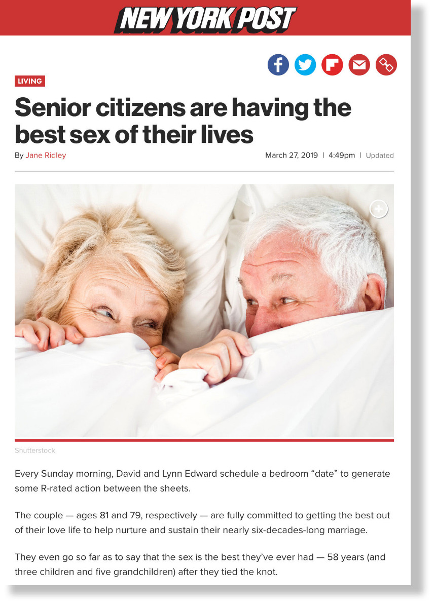 Seniors are having the best sex of their lives - NY Post