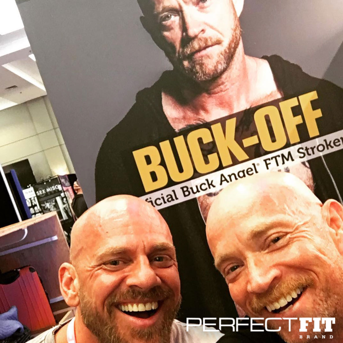 Perfect Fit Brand CEO Steve Callow with Buck Angel