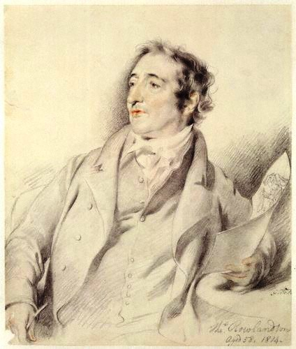 Thomas Rowlandson, pencil sketch by George Henry Harlow, 1814